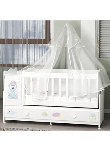 Garaj Home Garaj Home Pırlanta Yıldız 4Lü Uykucu Bebek Odası Takımı - Yatak Ve Uyku Seti Kombinli/ Uyku Seti Mavi Mavi